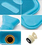 HomeTop Premium Classic Rubber Hot Water Bottle and
