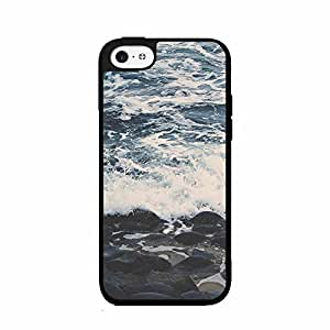Retro Look Beach Waves Plastic Phone Case Back Cover iPhone 5c