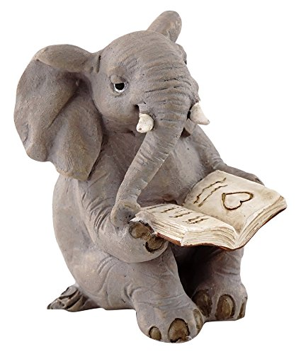 - Top Collection Miniature Garden Elephant Reading Book