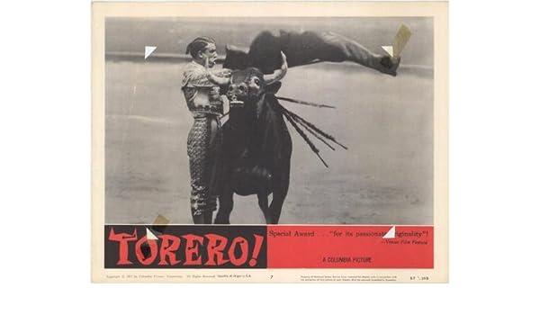 Torero! Cartel de la película 11 x 14 G - 28 cm x 36 cm Luis ...