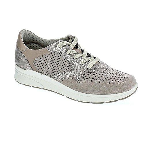 Imac Beige à de Femme Ville pour Chaussures Lacets rzB0rq