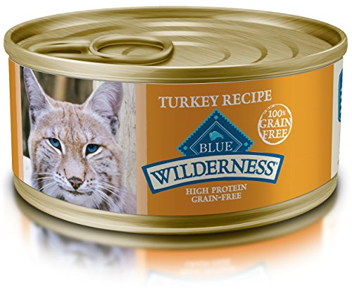 BLUE Wilderness Adult Grain Free Turkey Pate Wet Cat Food 5.5-oz (pack of 24)