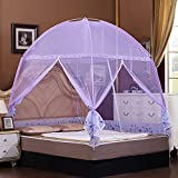 Nattey Purple Bedding Canopy Mosquito Net Tent For Twin Full Queen Small King Bed Size (Twin)