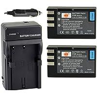 DSTE 2x EN-EL9 Battery + DC15 Travel and Car Charger Adapter for Nikon D40 D40X D60 D3000 D5000 Digital Camera as EN-EL9A