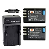 DSTE 2x EN-EL9 Battery + DC15 Travel and Car Charger Adapter for Nikon D40 D40X D60 D3000 D5000 Digital Camera as EN-EL9A