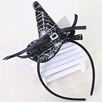halloween headband witch spider hats performance props bar dress up halloween hair band4
