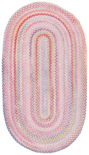 Cheap Capel Rugs Baby's Breath 3 x 5 Oval Braided Area Rug (Pink)