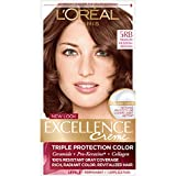 L'Oreal Paris Excellence Creme Permanent Hair Color, Medium Red Brown (Pack of 3)
