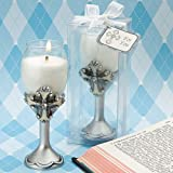Fashioncraft Cross Design Champagne Flute Candle Holders