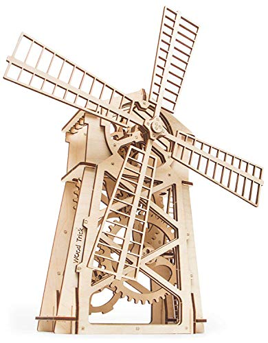 Windmill Model Kit to Build - 3D Wooden Puzzle, Assembly Toys, ECO Wooden Toy, Best DIY Toy - STEM Toys for Boys and Girls