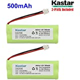 Kastar 2-PACK 4.8V 500mAh Ni-MH Rechargeable Battery Replacement for Dogtra BP12RT Dog Training Collar Receiver and 1900 NCP, 1902 NCP, 300M, YS500, SureStim H Plus, 1900 NCP, 302M and more Models