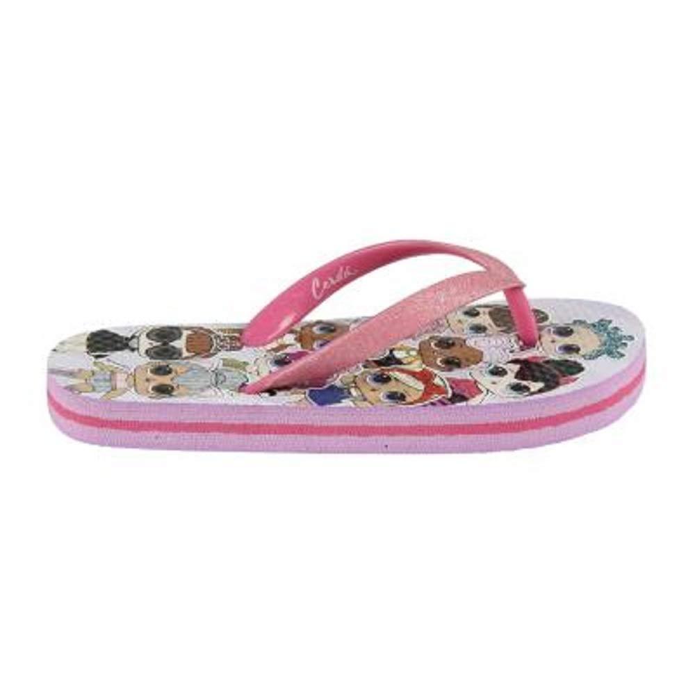 Fancy Chaussures Fille avec Poup/ées Lol Diva Rocker Plage Sandales Fille pour L/ét/é Chaussures Enfants Int/érieur /& Ext/érieur Piscine Vacances Surprise L.O.L