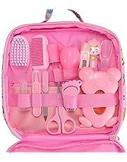 OurLeeme Herramienta para el cuidado de la salud del bebé, 13 piezas Essential Healthcare Nurse Tool Nail Hair Scissor Grooming Set con bolsa de transporte
