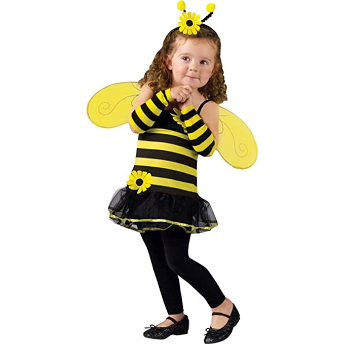 toddler honey bee girls insect halloween costumes size 3t 4t