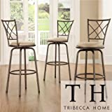 Tribecca Home Avalon Quarter Cross Swivel Counter Barstool
