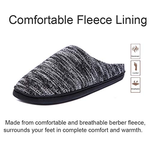 Shoes Plush Slippers Outdoor Foam Black on Slip House Memory Women Men Knit Lining Comfort Indoor DRSLPAR for Cqwt14x71
