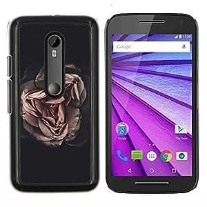 LECELL--Funda protectora / Cubierta / Piel For Motorola MOTO G3 3rd Gen -- Significado Oscuro Profundo Negro Vignette --