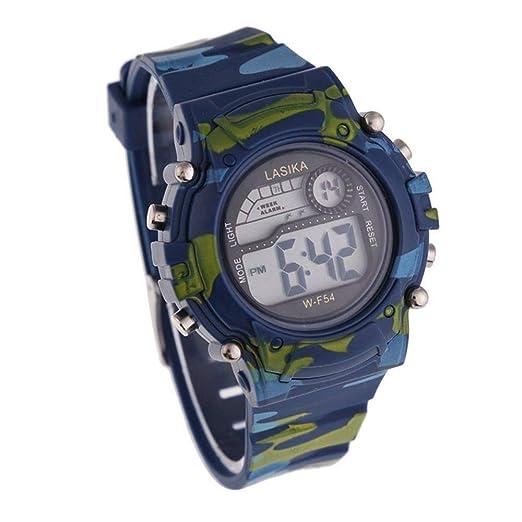 Malloom® niños militar camuflaje natación deportes digital muñeca reloj: Amazon.es: Relojes