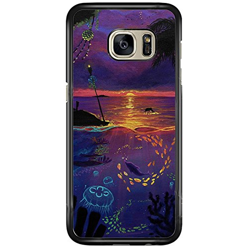 (SEENPIN Galaxy S7 Case Beach of Sunset [Shock Absorption] Case Cover for Samsung Galaxy S7)