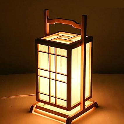 WINZSC Lámparas de pie japonesas Linterna de Madera ...