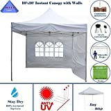 Cheap 10'x10′ Ez Pop up Canopy Party Tent Instant Gazebo 100% Waterproof Top with 4 Removable White – E Model By DELTA Canopies