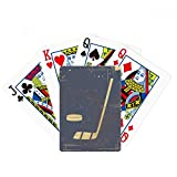 Golf Sport Illustration Blue Pattern Poker Playing Card Tabletop Board Game Gift