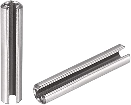 12mm x 60mm Carbon Steel Roll Pins Slotted Spring Tension Pin Pack of 15