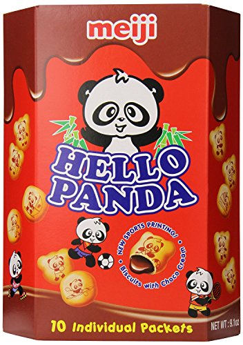 Meiji Hello Panda Chocolate Biscuit, 9.1 Ounce + One NineChef Spoon