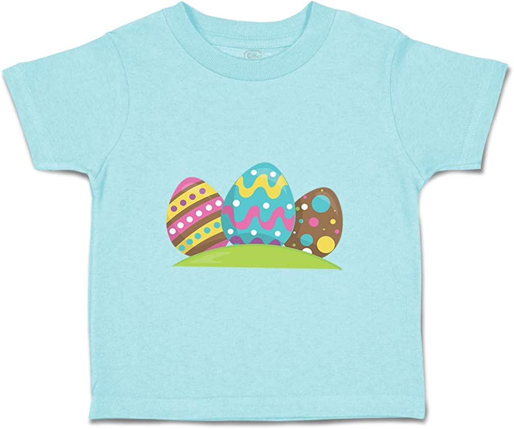Custom Baby /& Toddler T-Shirt 3 Colorful Eggs Cotton Boy Girl Clothes