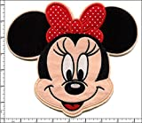 big minnie mouse iron on patches - Qiagraphix AP032bA: 5 Pcs Embroidered Iron/Sew on patches BIG Minnie Mouse Red Bow 8.5