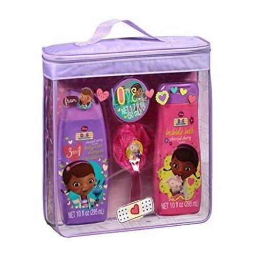 Disney Doc McStuffins enfants Bain Basics Set Body Wash Shampooing Bain moussant Lotion Scrubby 4 Piece Gift Pack Bundle