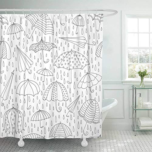 Emvency Fabric Shower Curtain Curtains with Hooks Coloring