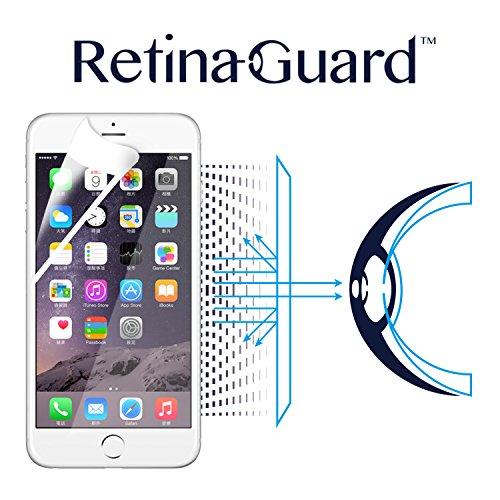 RetinaGuard iPhone6Plus/6sPlus ブルーライト90%カット保護フィルム(ホワイトベゼルタイプ)