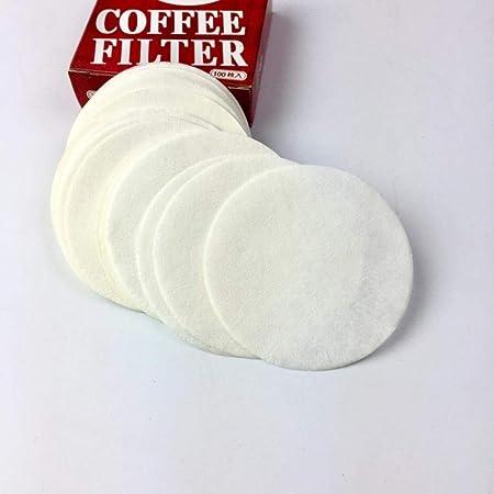 HPPL200Pcs 56mm 60mm 68mm Papel de Filtro de café Redondo para cafetera Espresso V60 Filtros de Goteo Herramientas Filtro de Papel de café Moka Pot, Blanco, 56mm 200PCS: Amazon.es: Hogar