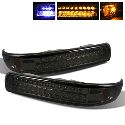Light Suburban Parking (For Chevy Silverado Suburban Tahoe Smoked Lens Amber LED Front Bumper Signal Lights Lamps Assembly)
