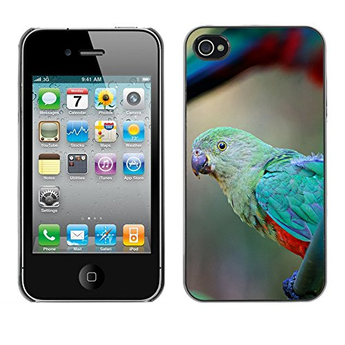 Premio Sottile Slim Cassa Custodia Case Cover Shell // F00019739 perroquet vert // Apple iPhone 4 4S 4G