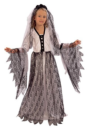 Girls Corpse Bride Costume for Halloween Zombie Living Dead Fancy Dress Outfit Child (M) by Partypackage Ltd -