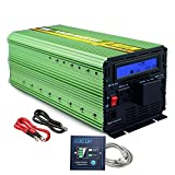 Edecoa 3000W Power Inverter DC 12V to 110V AC with LCD Display and Remote