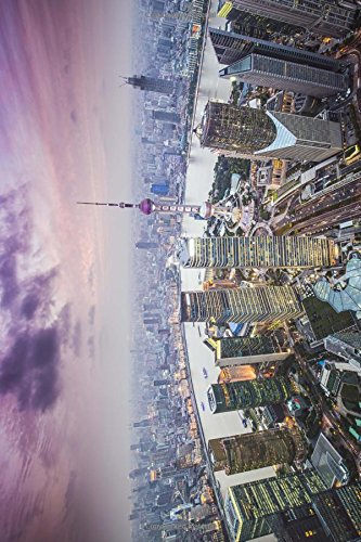 Awesome Shot of Shanghai China from Above Journal: 150 page lined notebook/diary