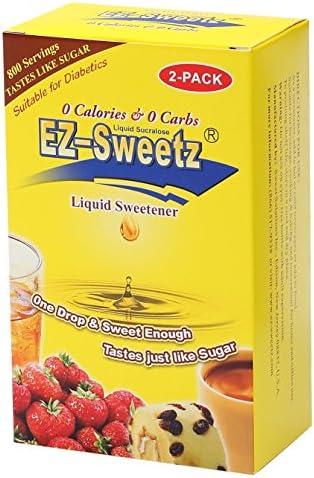 EZ-Sweetz (2.0oz - Liquid Sweetener 800 Servings/Bottle) (Original, 2 Pack) 1