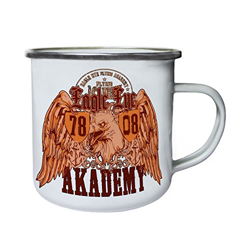Academy Enamel - Eagle Eye Flying Academy Retro,Tin, Enamel 10oz Mug x168e