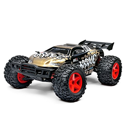 LBLA Remote Control Car, 1/12 Scale 4WD RC Car. RTR 2.4Ghz 30MPH High Speed Off-Road RC Truck (Golden)