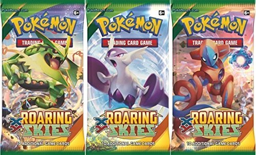 Pokémon Trading Card Game: XY - Roaring Skies Sealed Booster Pack x 4 Photo