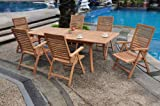 Grade-A Teak Wood Luxurious Dining Set Collections: 7 pc - 94