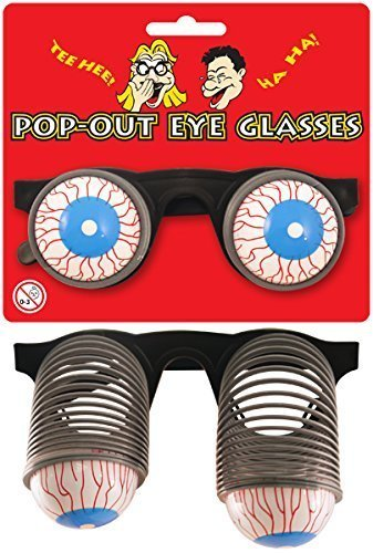 1 x Pop Out Eyes Novelty Glasses Henbrandt