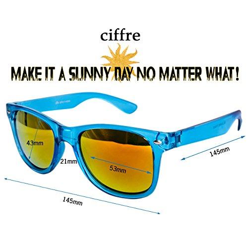 Türkis dimensions différents de style retro modèles Nerd de et vintage pour 150 de lunettes wayfarer unisexe Transparent paire coloris clear lunettes soleil soleil Feuer env disponibles wxZqgUI