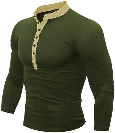 Camiseta De Algodón Nner Autumn para Sexy Hombre Hombres Modernas Casual Ninner Camiseta De Color Liso Top De Manga Larga Camisa De Invierno Camisa Autaum Camisa Alta: Amazon.es: Ropa y accesorios