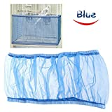 Bonaweite Mesh Bird Seed Catcher, Birds Cage Net Cover, Soft Nylon Skirt with Adjustable Drawstring