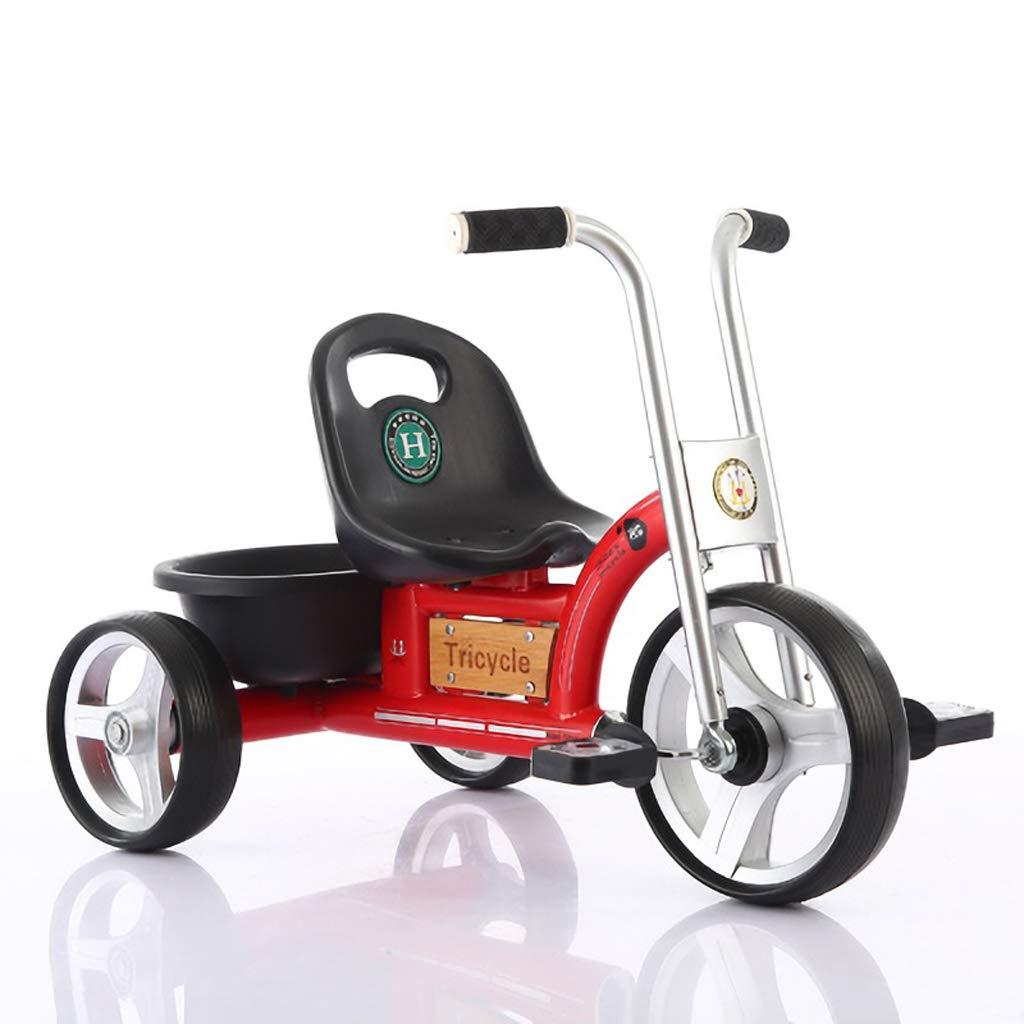 Kinder Dreirad Fahrrad 1-5 Jahre altes Kind leichtes Dreirad Kind dreirädriges Tretauto (Farbe   ROT)