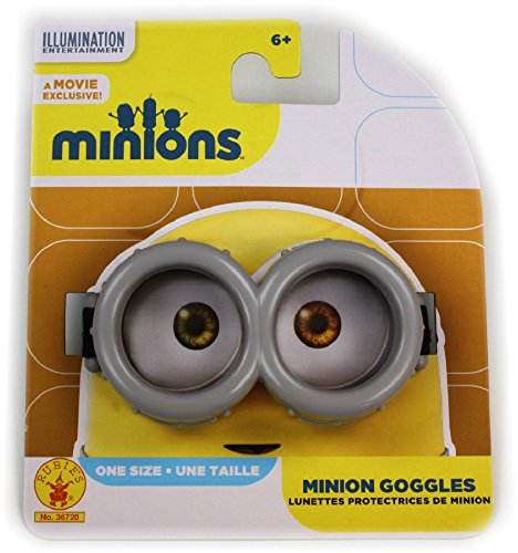 MINIONS Official Movie Exclusive Basic Goggles, One Size (Adjustable) (Minions Movie: Minion Kevin Adult Costume)